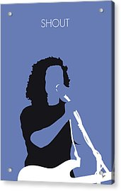 No268 My Tears For Fears Minimal Music Poster Acrylic Print