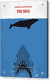 No985 My Meg Minimal Movie Poster Acrylic Print