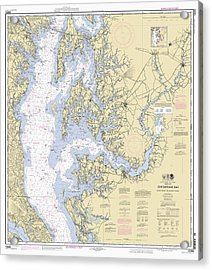 Chesapeake Bay, Cove Point To Sandy Point Nautical Chart 12263 Acrylic Print