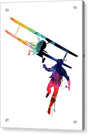 North By Northwest Watercolor Acrylic Print