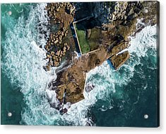 Acrylic Print featuring the pyrography North Curl Curl Pool by Chris Cousins