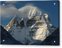 North Face Of Mount Kailash Gang Acrylic Print by Tcp