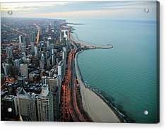 North Lake Shore Drive Acrylic Print by By Ken Ilio