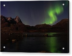 Northern Lights Aurora Borealis In Norway Acrylic Print