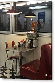 Acrylic Print featuring the photograph Nostalgic Diner by Expressive Landscapes Fine Art Photography by Thom