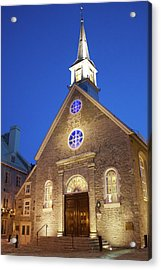 Notre-dame-des-victoires Acrylic Print by Fabiano Rebeque - Frebeque@yahoo.ca