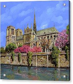 Notre Dame In Primavera Acrylic Print