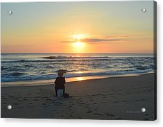 Acrylic Print featuring the photograph November 3, 2018 Fisherman by Barbara Ann Bell