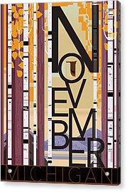 November Michigan Acrylic Print