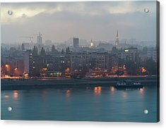 Novi Sad Night Cityscape Acrylic Print
