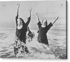 Nuns In The Surf Acrylic Print