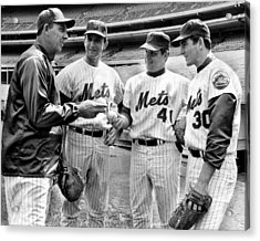 N.y. Mets Manager Gil Hodges Sports A Acrylic Print