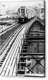 Nyc Subway Acrylic Print by Hulton Archive