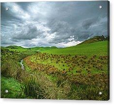 Nz Countryside Acrylic Print