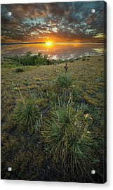 Acrylic Print featuring the photograph Oahe Sunset  by Aaron J Groen