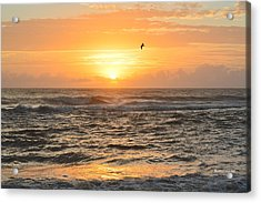 Acrylic Print featuring the photograph Obx Sunrise 9/17/2018 by Barbara Ann Bell