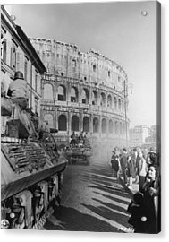 Occupation Of Rome Acrylic Print by Hulton Archive