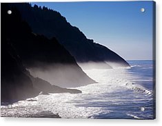 Acrylic Print featuring the photograph Ocean Beach Siuslaw National Forest Oregon by Rospotte Photography