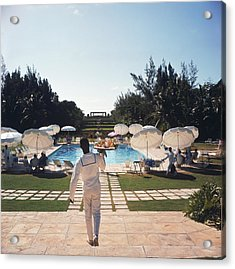 Ocean Club On Paradise Island Acrylic Print by Slim Aarons