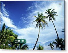 Ocean Drive, South Beach, Miami Acrylic Print