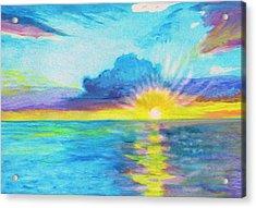 Ocean In The Morning Acrylic Print