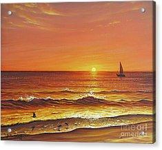 Ocean Of Fire Acrylic Print