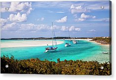 Ocean View From Warderick Cay In Exumas Acrylic Print