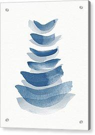Acrylic Print featuring the mixed media Ocean Zen 2 - Art By Linda Woods by Linda Woods