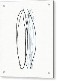 Acrylic Print featuring the mixed media Ocean Zen 5- Art By Linda Woods by Linda Woods