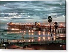 Oceanside Pier At Dusk Acrylic Print