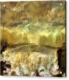 October At The Falls Acrylic Print