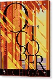 October In Michigan Acrylic Print