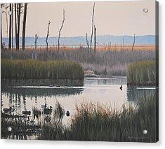 October Reflections Acrylic Print