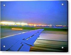 O'hare Night Takeoff Acrylic Print