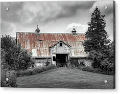Ohio Barn In Black And White Acrylic Print