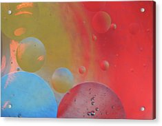 Oil And Color Acrylic Print