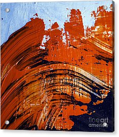Oil Painting Abstract Brushstrokes Acrylic Print