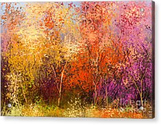 Oil Painting Landscape - Colorful Acrylic Print