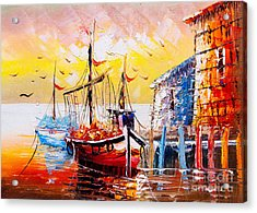 Oil Painting - Venice, Italy Acrylic Print