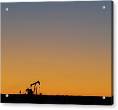 Acrylic Print featuring the photograph Oil Pump After Sunset 02 by Rob Graham