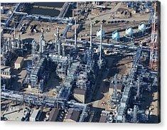 Oil Refinery Aerial Photo Acrylic Print
