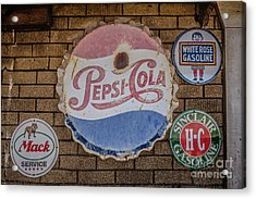 Old Advertising Signs Acrylic Print