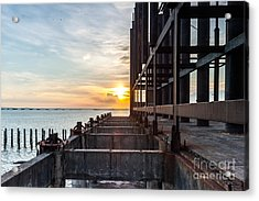 Old Architecture In Sunset, Abstract Acrylic Print