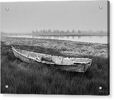 Old Boat In Tidal Marsh Acrylic Print