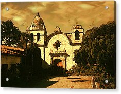 Old Carmel Mission - Watercolor Painting Acrylic Print