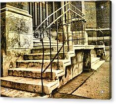 Old Church Entrance In Vienna Acrylic Print
