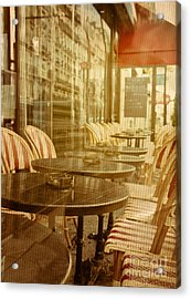 Old-fashioned Coffee Terrace With Acrylic Print