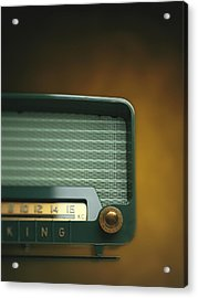 Old-fashioned Radio With Dial Tuner Acrylic Print