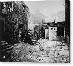 Old Glasgow Close Acrylic Print by T. R. Annan