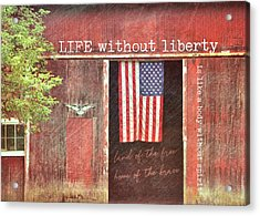 Old Glory Quote Acrylic Print by JAMART Photography